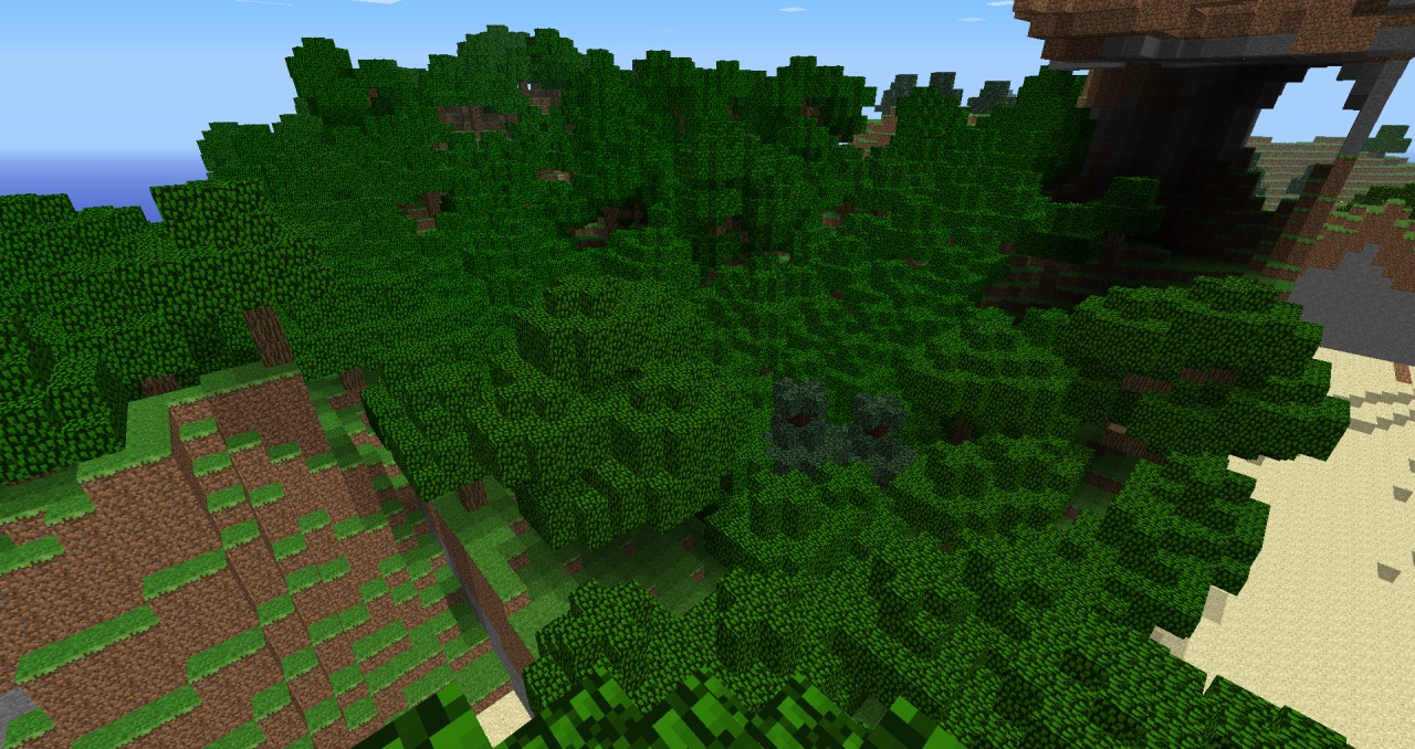 Forested fake chunks