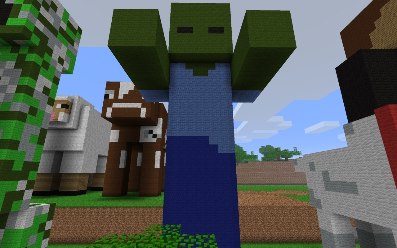 Zombie Statue Arms Out Minecraft Project