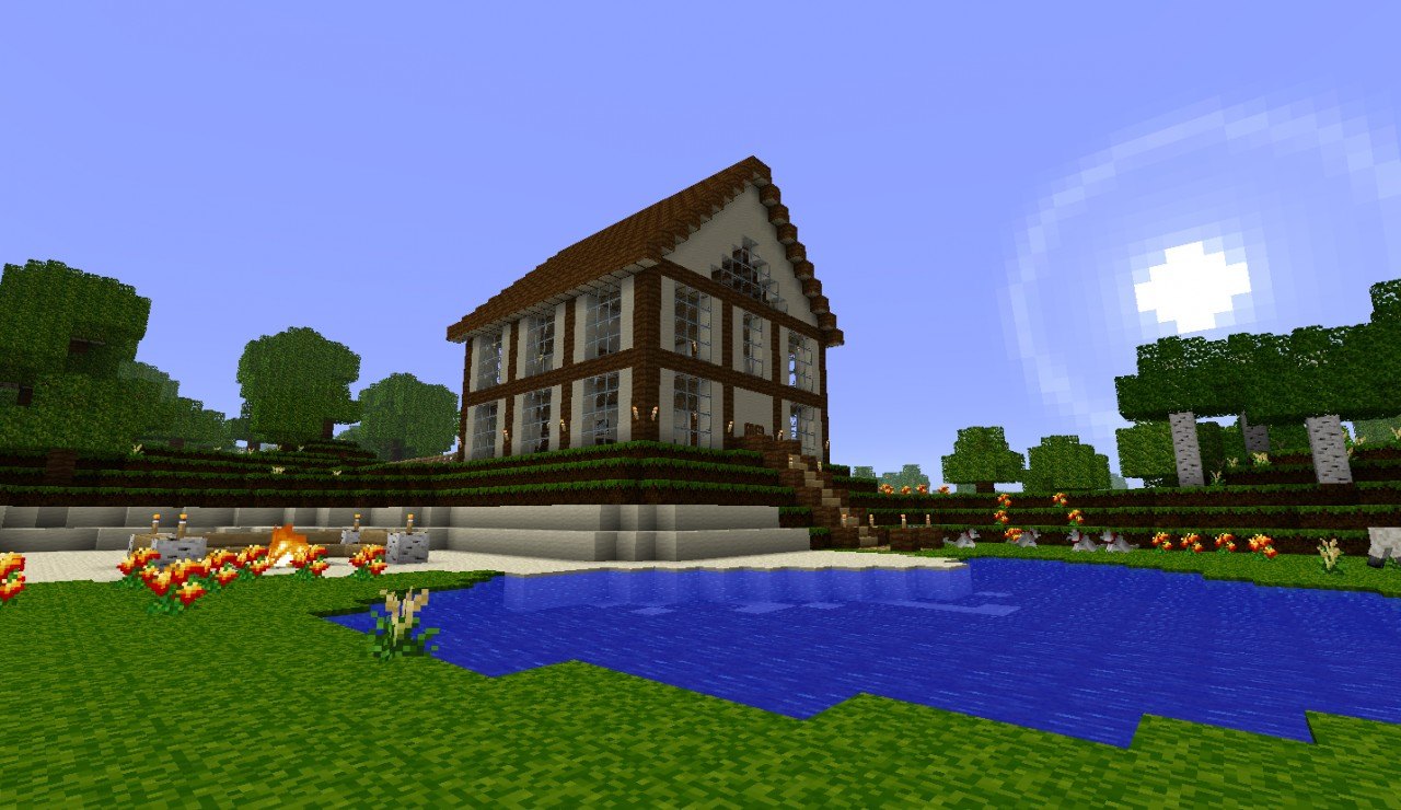Best medium spawn house ever minecraft project for World best house image