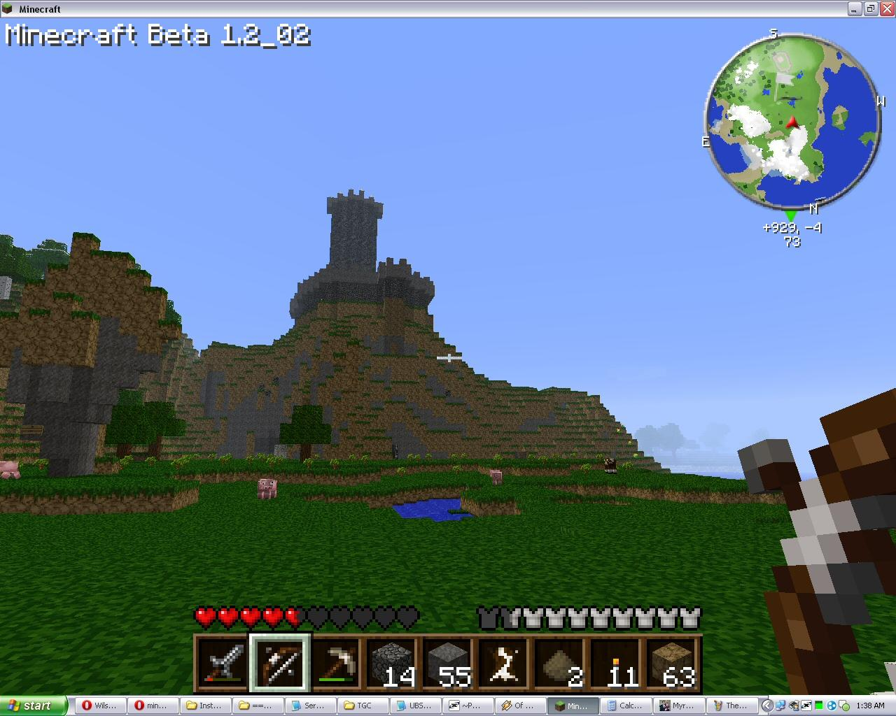 Crown Hill - my first SMP Castle, on Wilson's server