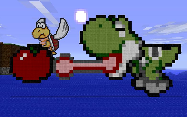 Yoshi Pixel Art Minecraft Project