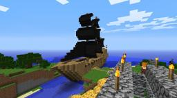 pirate ship inspired by the black pearl Minecraft Map & Project