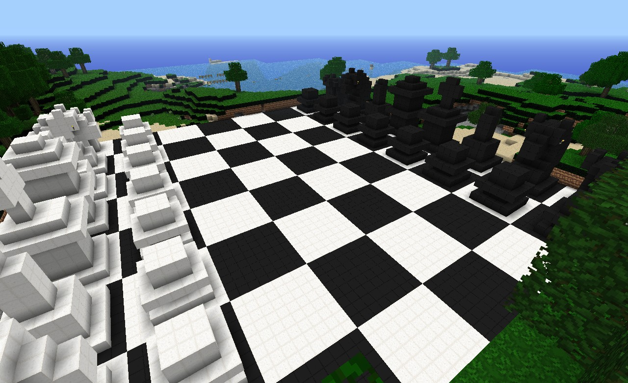64x64 3d Chess Board Minecraft Project
