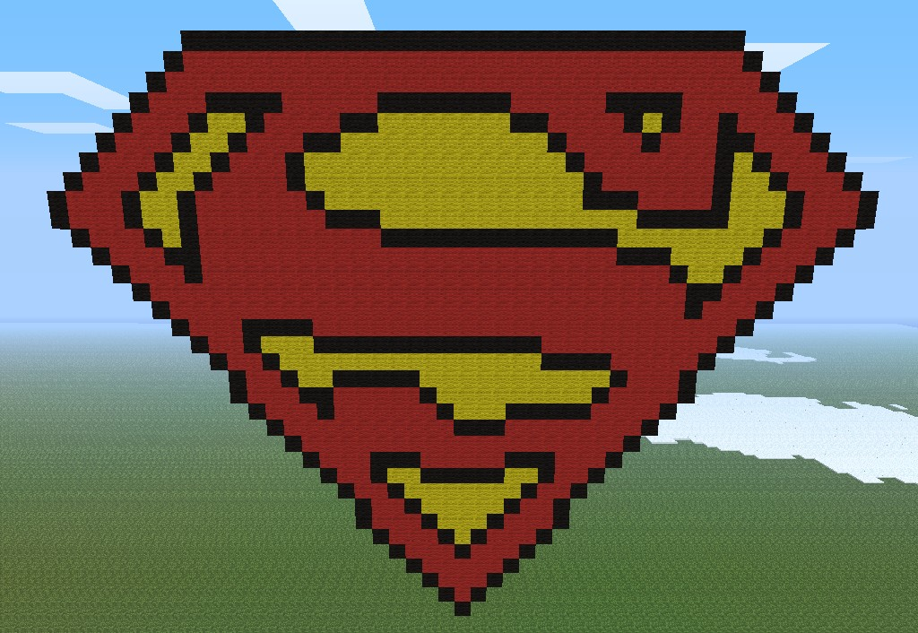 Pixel Art Series 005 Superman Logo Minecraft Project