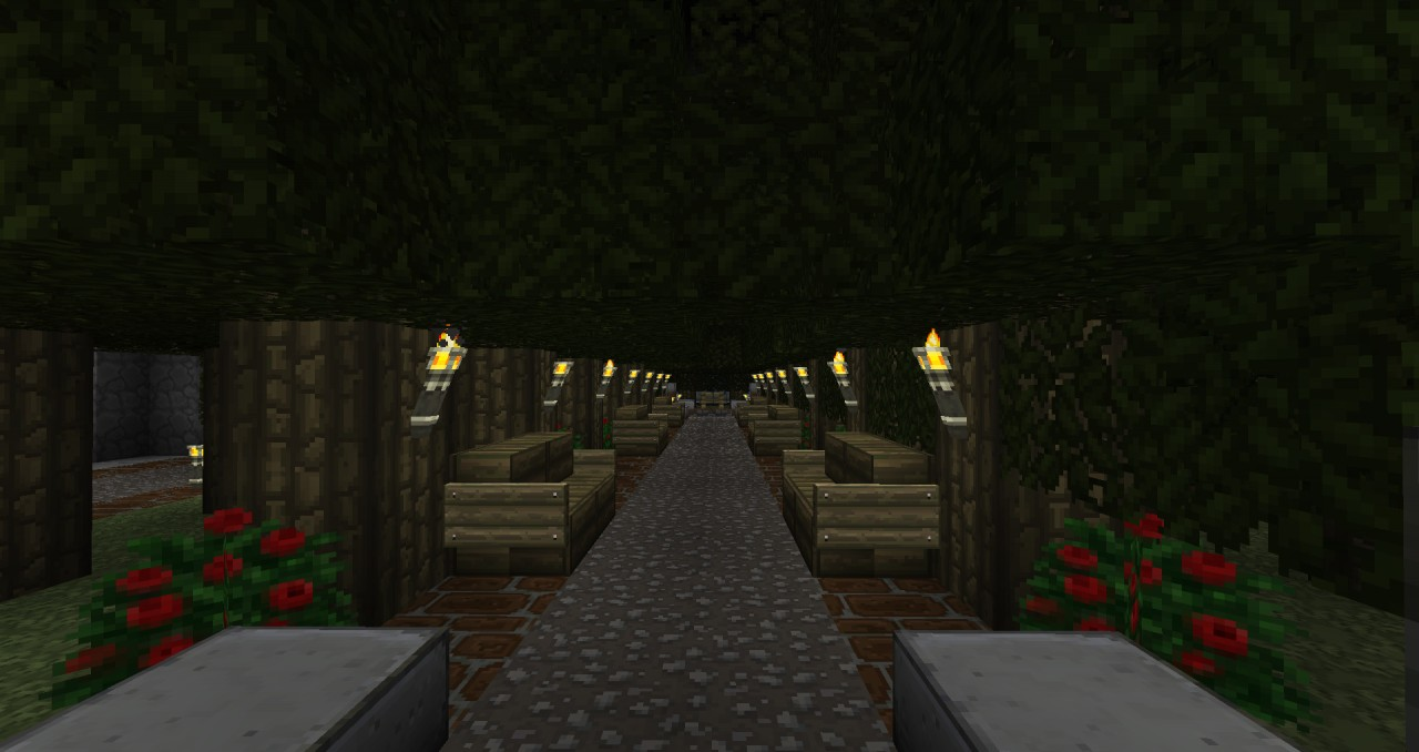 Tree area with benches