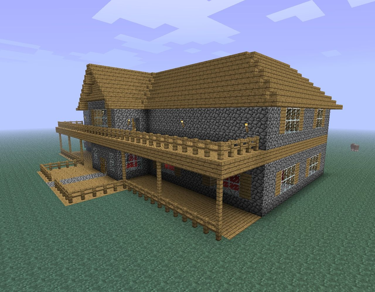 The gallery for minecraft cobblestone house for Cobblestone house