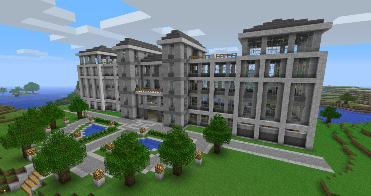 how to build a hotel in minecraft easy