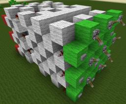 2 wide, 2 high, tileable D-flipflop for redstone screens Minecraft Map & Project