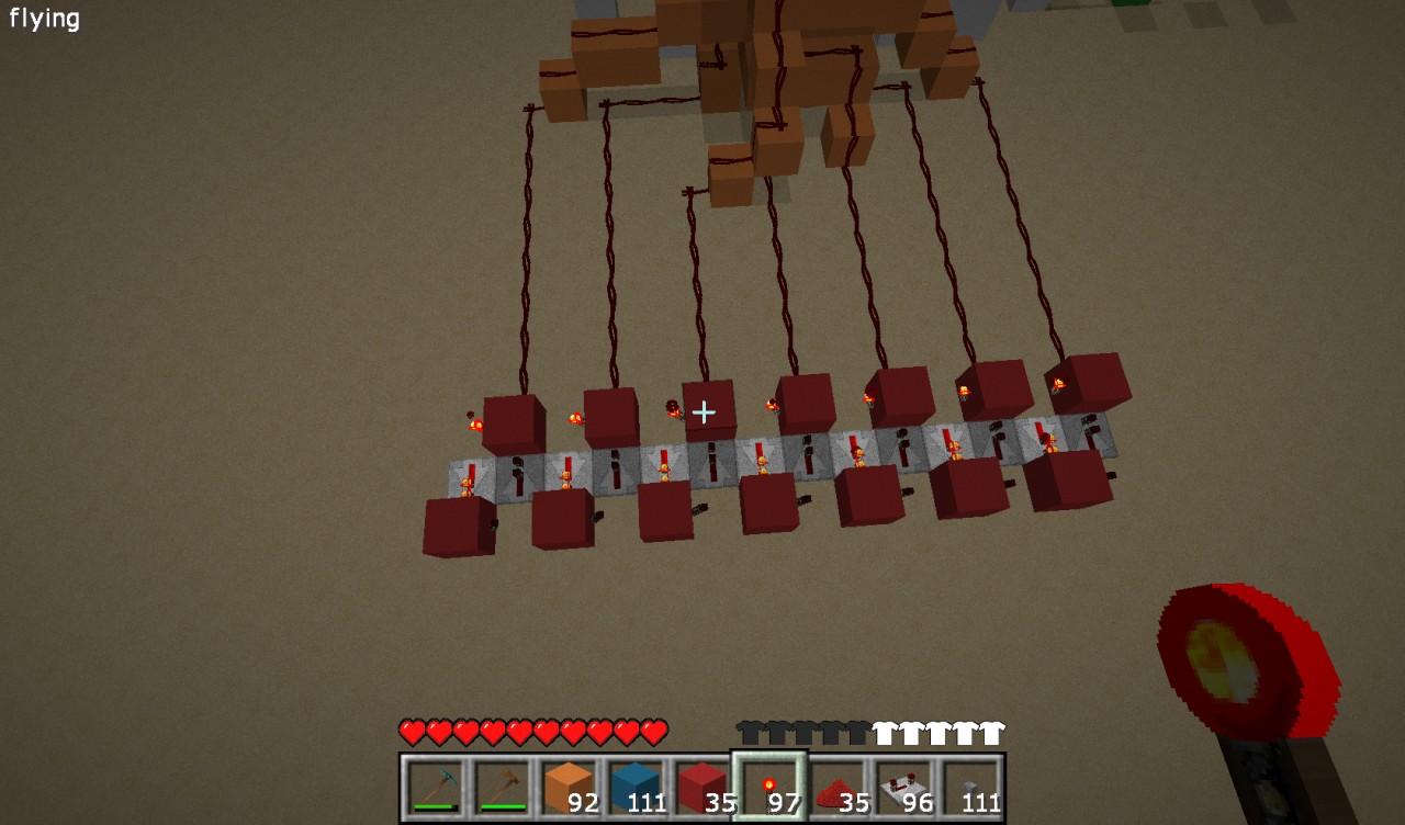 how to make a 7 segment display minecraft