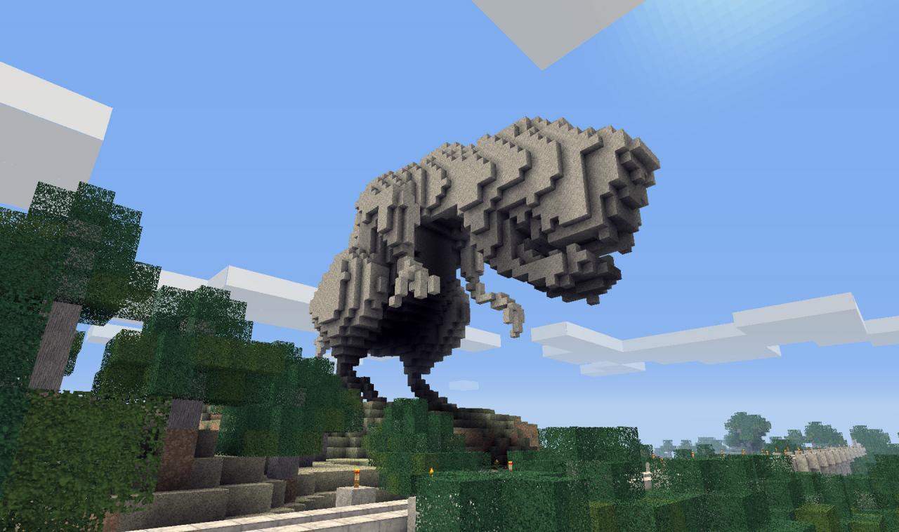 DINOSAUR - BINVOX Minecraft Project