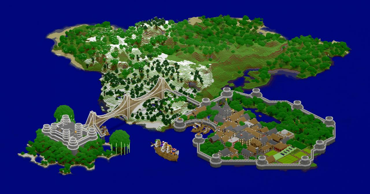Medieval island map fortress port city ships minecraft project medieval island map gumiabroncs Image collections