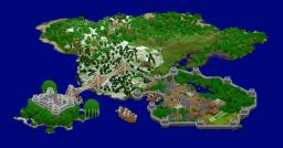 Medieval Island Map (Fortress, Port City, Ships) Minecraft Map & Project