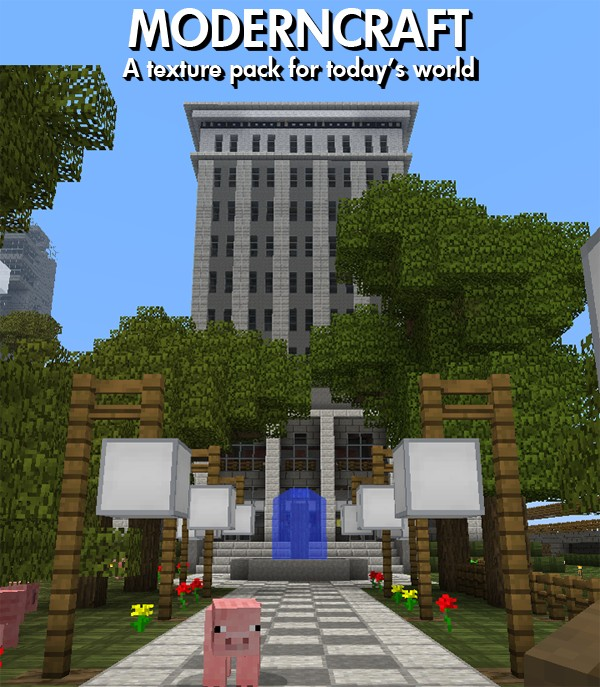 Moderncraft, a texture pack for today's world