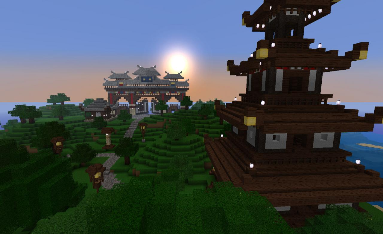 Tatsuyama Entrance Gate and another Pagoda