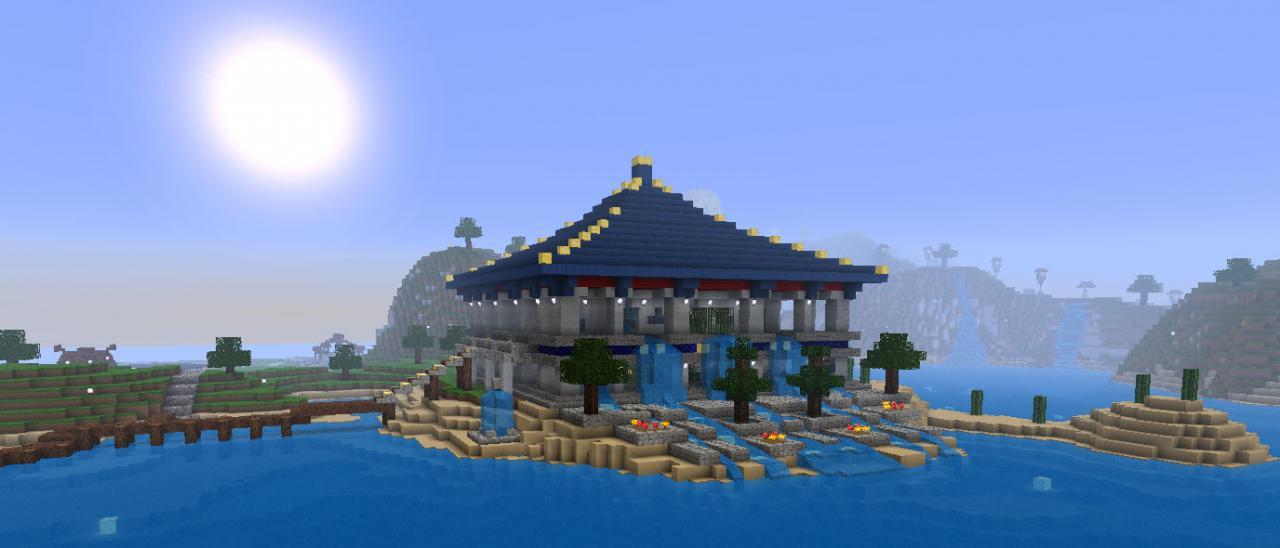 New Water Temple next to Big Buddha Bay