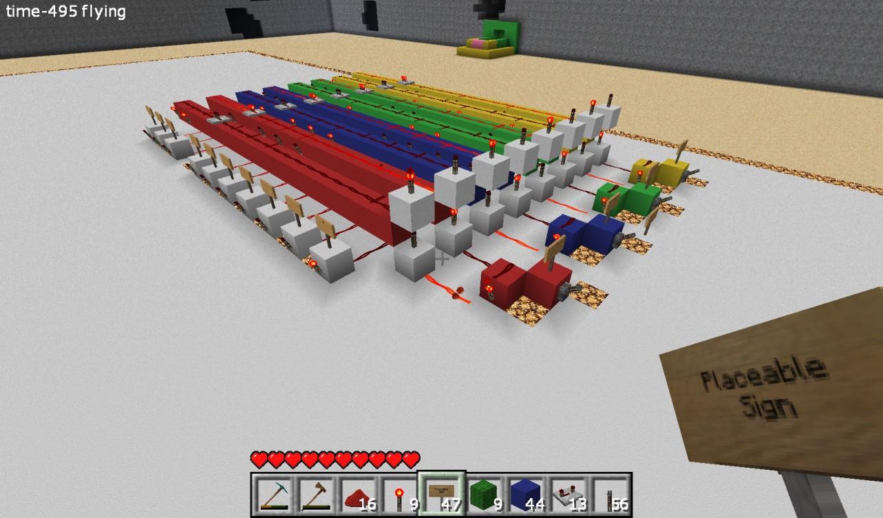 Minecraft Fast Binary Decoder Decimal To 16 Bit Binarytobcddecoder And Tutorials Digital Systems Part 4 7 Segment Project