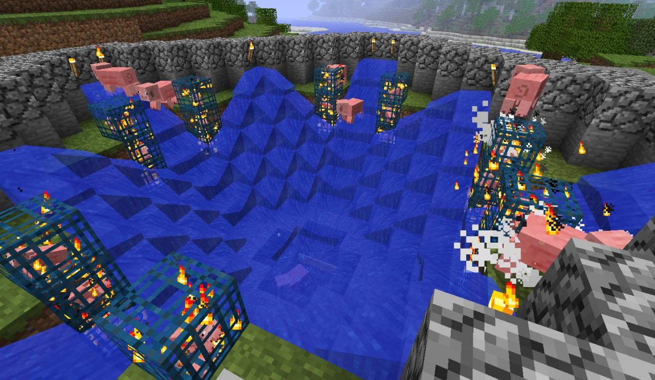 24 mob spawner Pig Cooker Minecraft Map