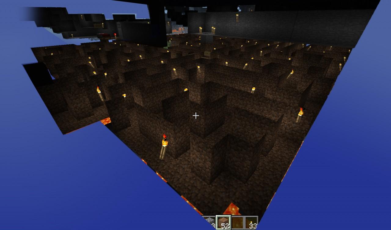Multi Level Underground Maze Minecraft Project
