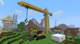 Construction Crane and Digger Minecraft