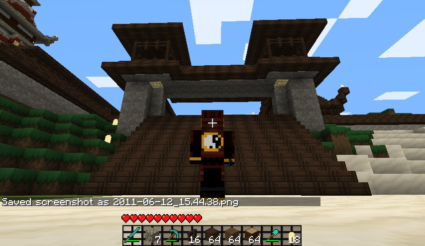The town of daiyamondo japanese city minecraft project - Minecraft japanese gate ...