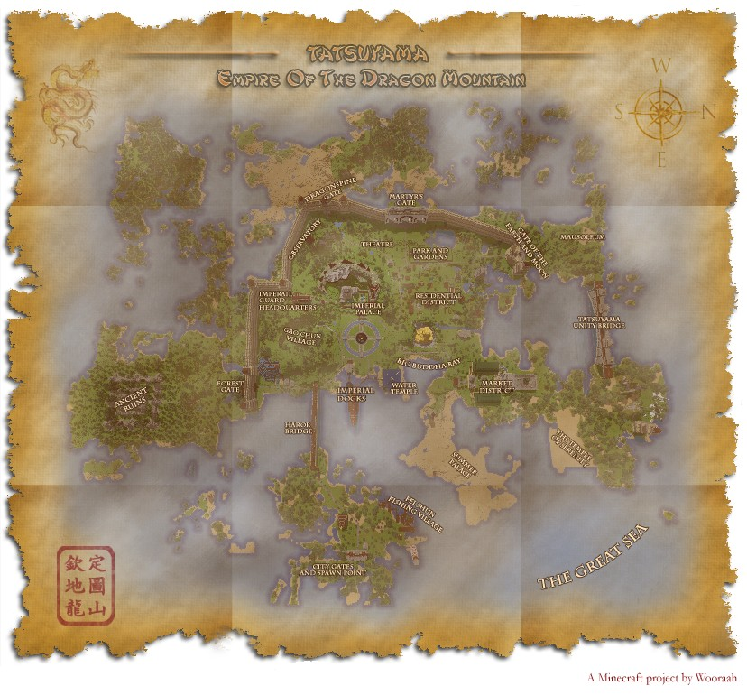 An aged Tatsuyama Map that will come with the download