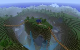 Custom Terrain: Canyons and Caves Minecraft Map & Project