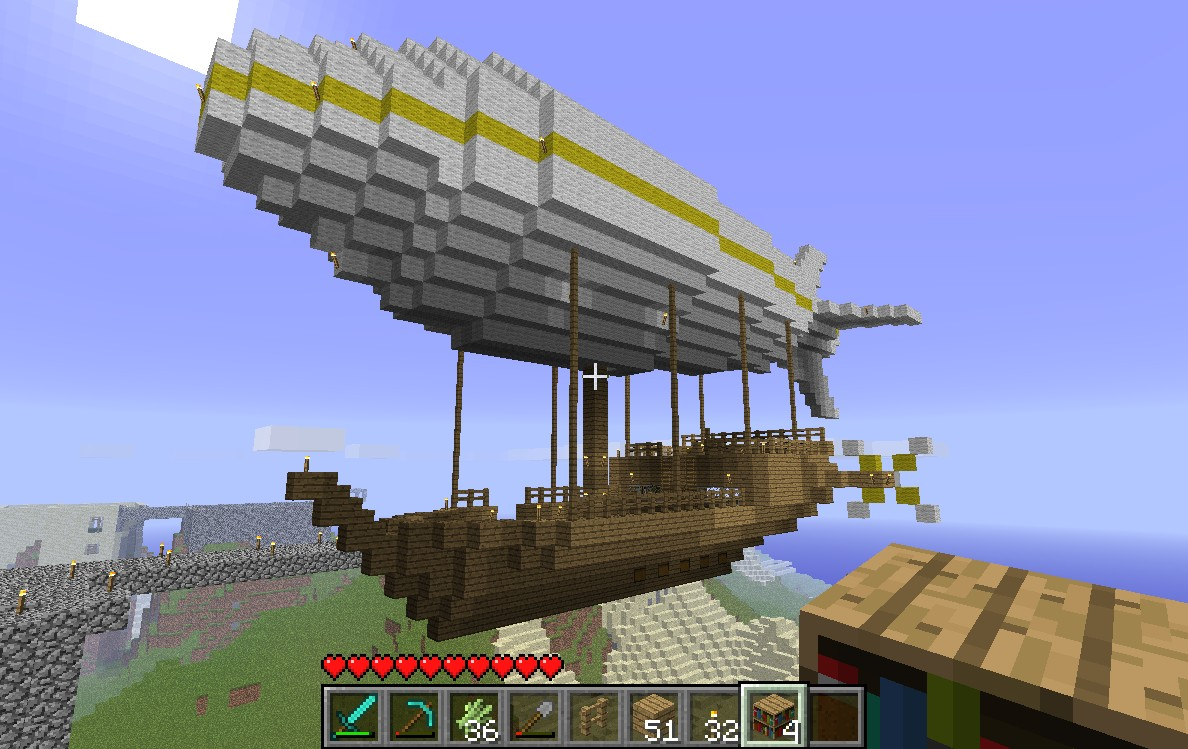 How To Build A Blimp In Minecraft