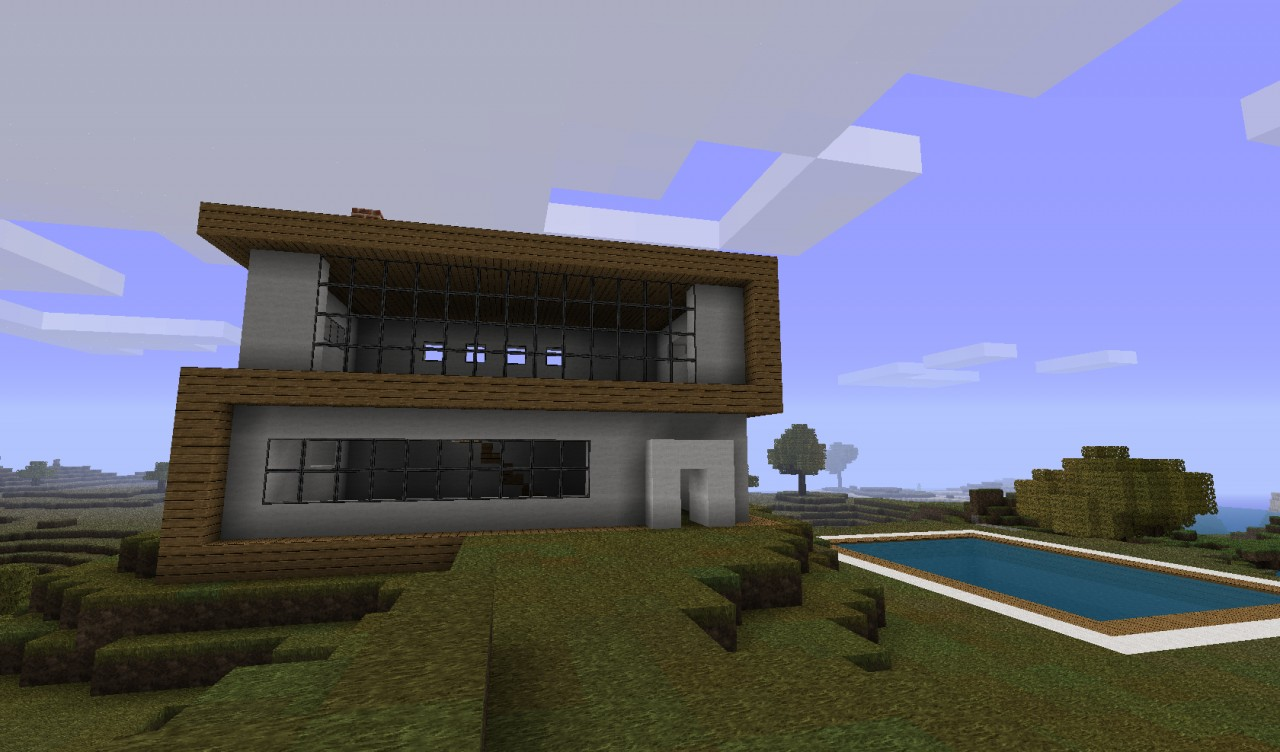 Modern house designs minecraft project for Projects of houses