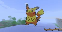 Pikachu Pixel Art Minecraft Project