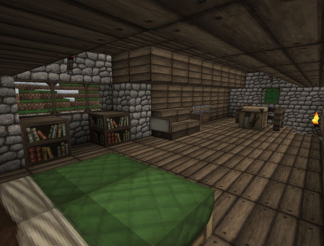 Woodworking central project workbench mod for Minecraft carpentry bench