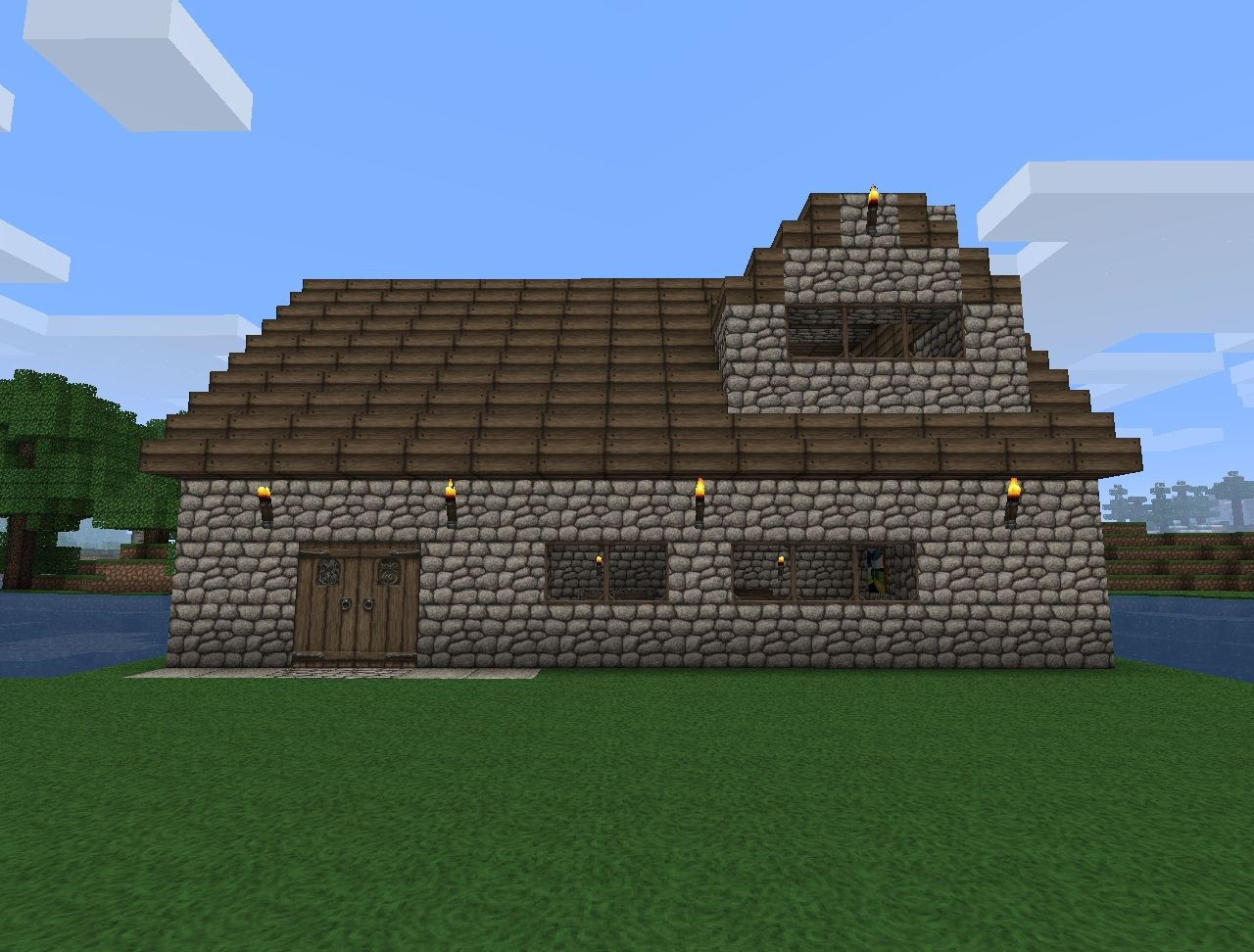how to build a cottage house in minecraft