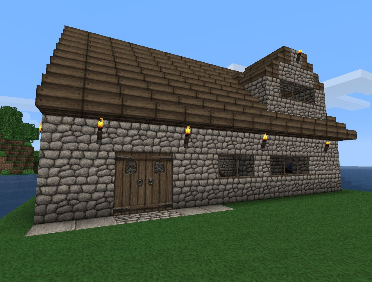 Small Minecraft Cabin Designs Small cottage house minecraft