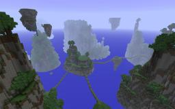 Custom Terrain: Floating Mountains Minecraft Map & Project