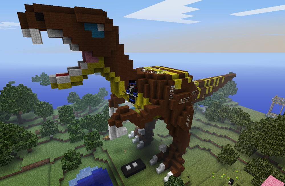 How To Build A Velociraptor In Minecraft