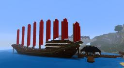 Dragon's Wing - A Chinese Treasure Ship Minecraft Map & Project