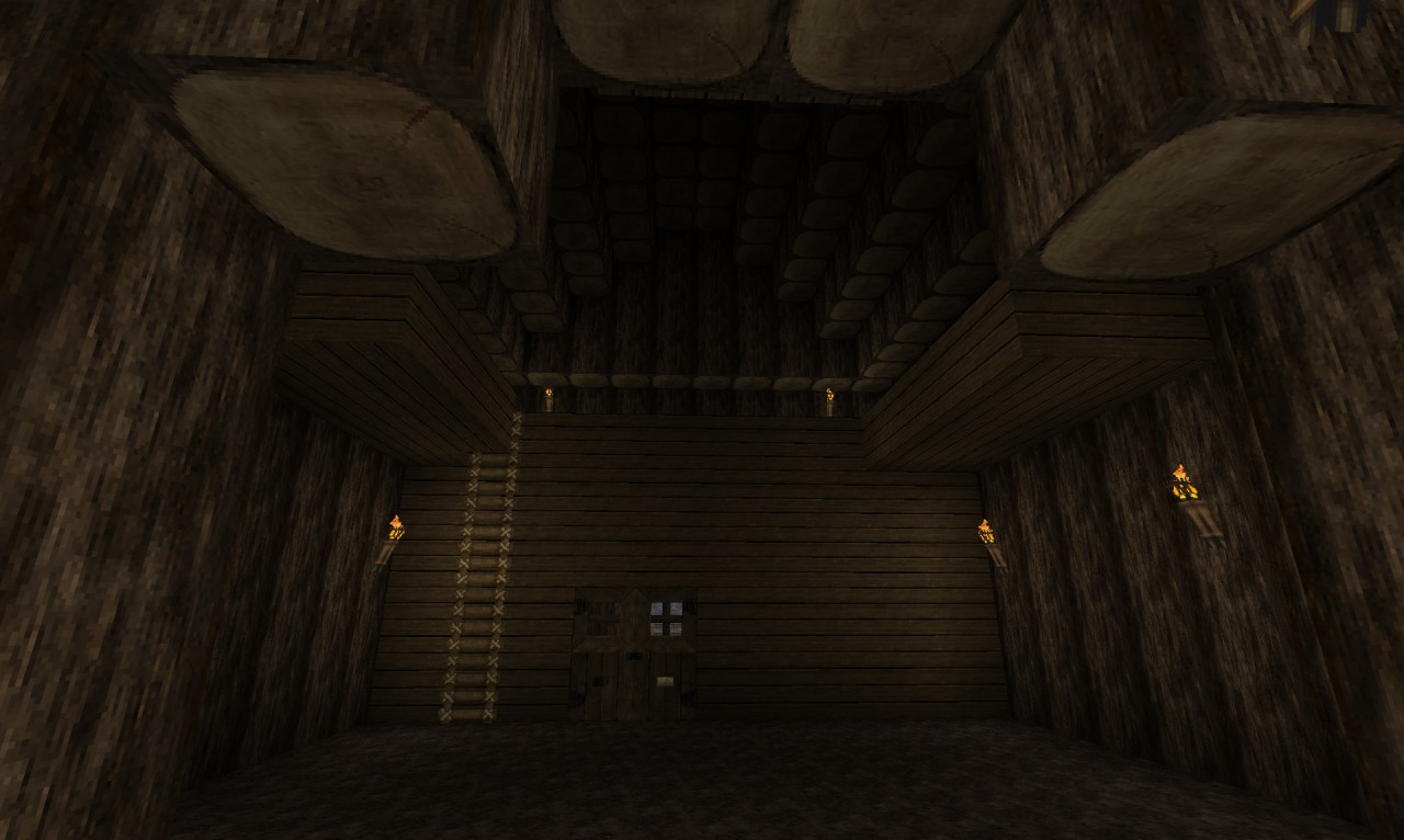 Inside of the barn. Spacious interior allows for stables or other personal additions