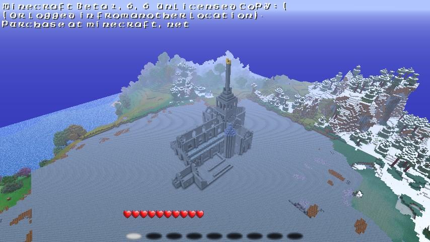 Mont St. Michel Day 1 Building Progress