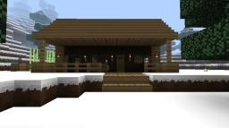 Log Cabin Starter House Minecraft