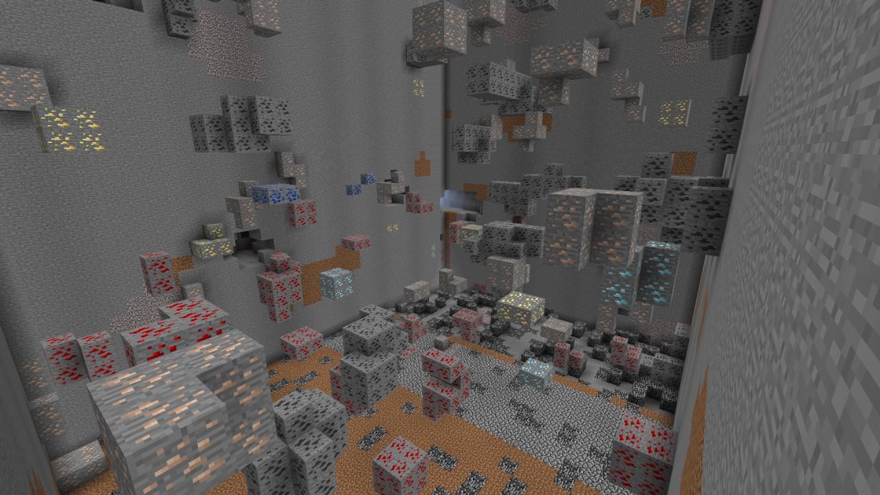 Diamond mine (made using the Destructive Magic Wand)