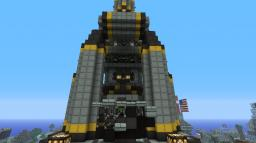 FF7 Shinra Inspired Building Minecraft Map & Project