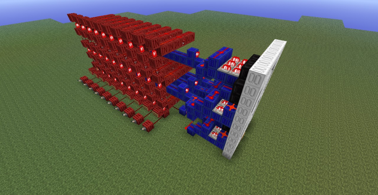 7 Segment Display Display With Encoder Minecraft Project