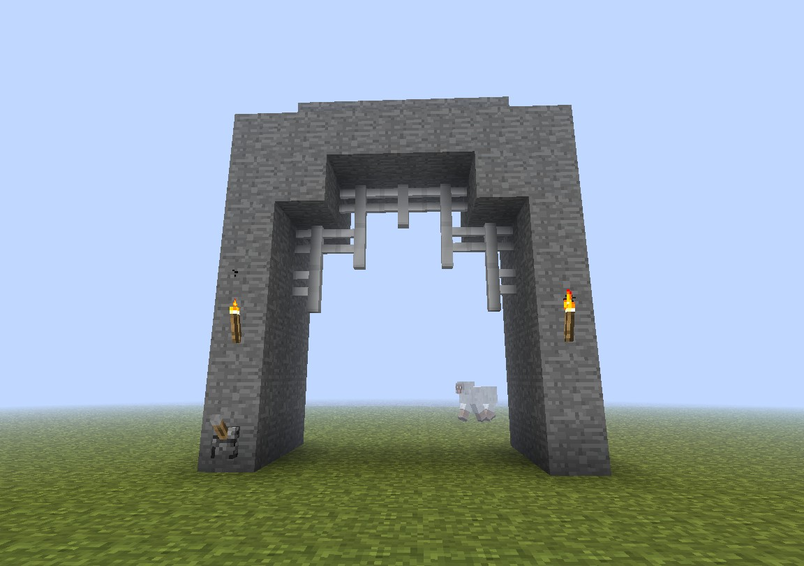 Minecraft How To Build A Castle Gate Minecraft Tutorial Castle