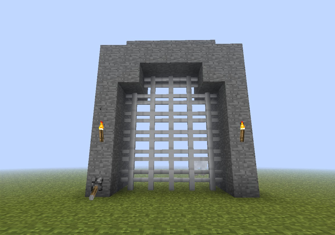 minecraft how to build a gate