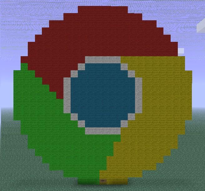 Google chrome Logo Minecraft Project