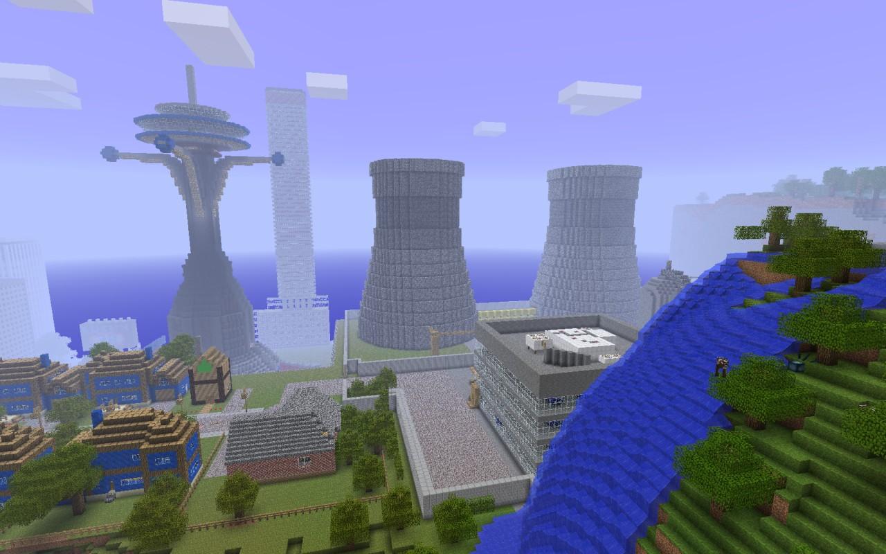 minecraft big city map