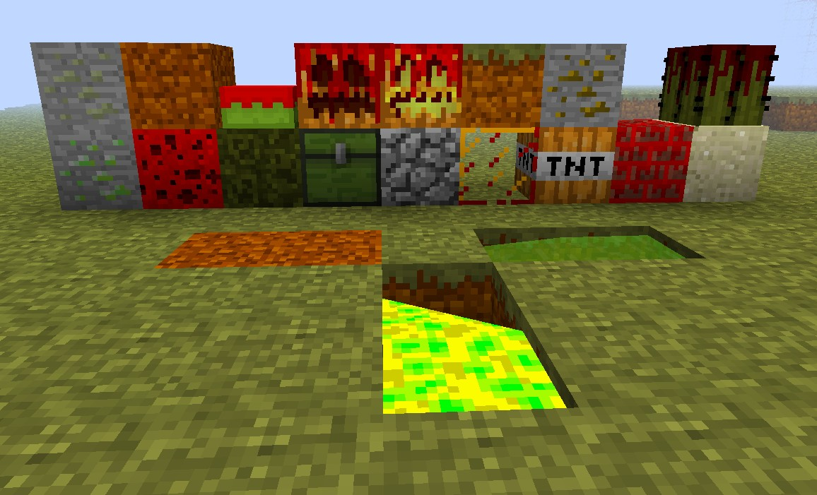 These are a few of the custom blocks