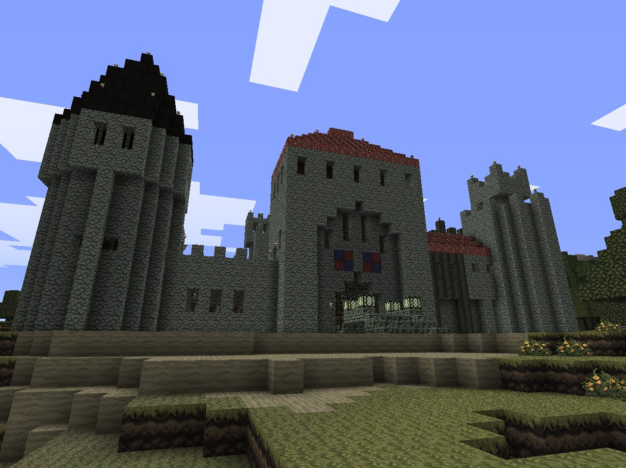 castle muiderslot  schematic  minecraft project