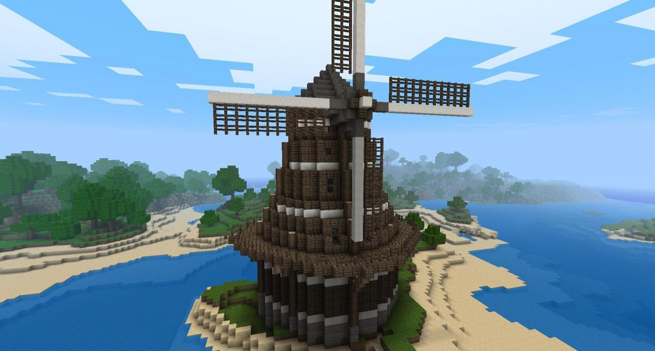 Dutch-Inspired Windmill Minecraft Project