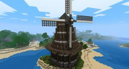 Dutch-Inspired Windmill Minecraft Map & Project