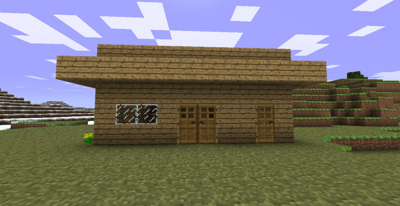 Simple house minecraft project for Minimalist house minecraft